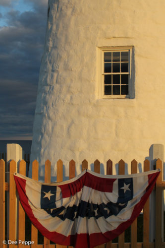 sunset golden hour at Pemaquid Point Lighthouse